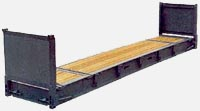 Container 40ft Flat rack: dimensions, tonnage and other parameters