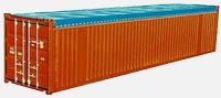 Container 40ft OpenTop: dimensions, tonnage and other parameters