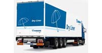 Semi trailer 92m3 Krone DRY LINER STG: dimensions, tonnage and other parameters