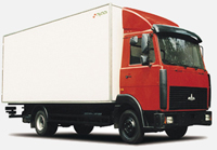 Lorry MAZ-437040-061: dimensions, tonnage and other parameters