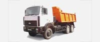 Dump truck MAZ-651705-281: dimensions, tonnage and other parameters