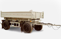 Dump trailer MAZ-857100-020: dimensions, tonnage and other parameters